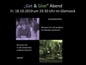Get and Give Abend um 19.30 Uhr im Hotel Glemseck @ Hotel Glemseck