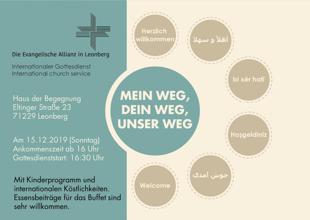 Internationaler Gottesdienst im Haus der Begegnung!