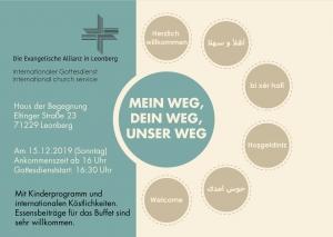 Internationaler Gottesdienst im Haus der Begegnung